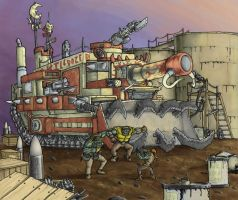Orks - Looted Wagon - Colour by Taytonclait