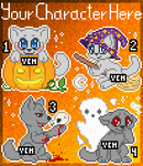 YCH Halloween Icons CLOSED by Bluefirewings