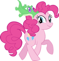 Pinkie Pie and Gummy by TrueCelticHeart