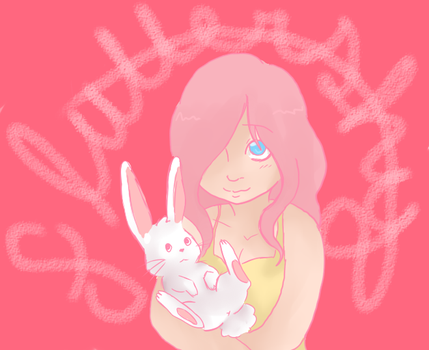 Human Fluttershy because blog reasons by BonnieOkie