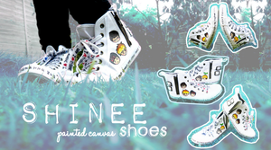 SHINee painted Canvas Shoes by mashimaroROCKS