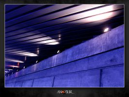 LE TUNNEL BLEU by ANOZER