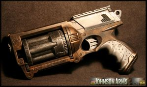 Steampunk style Nerf Maverick by JohnsonArms