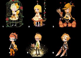 100 themed selfy adopts: day 8 Orange [CLOSED] by AlbinoAdopts