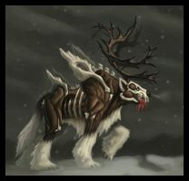 Arctic Undead Creature by faxtar