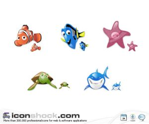 Finding Nemo vista icons by Iconshock Iconos para Windows XP