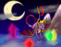 Spyro the Dragon-Night Flight by pikachu-25