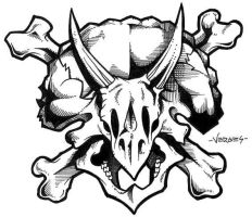 Triceratops Skull by scumbugg