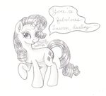Fabulous Rarity Message by Inurantchan