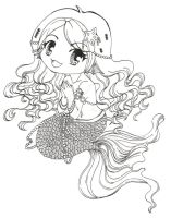 Chibi Mermaid WIP 2 by Clinkorz