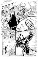 Avengers page 4 inks by JoeyVazquez