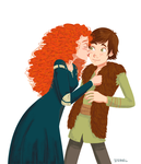 Hiccup and Merida by Irrel