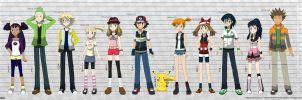 PKMN V - Character Height Chart (VER. 3) by Blue90