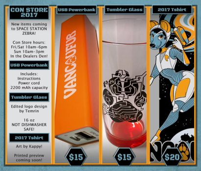 NEW VF2017 Con Store Items! by Vancoufur