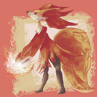 delphox by haemorrhoid