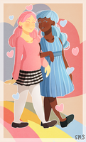 Cotton Candy Girls + Speed-process video by TheRainbowRose