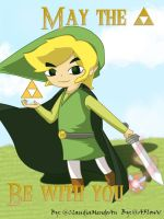 May the TRIFORCE be with you. by ClaudiaMendozAn
