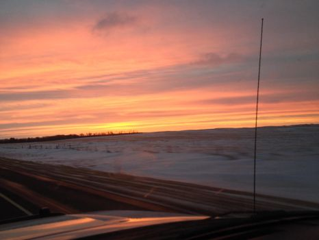 Sunset in ND by Chocoppyica
