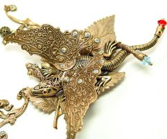 Art Nouveau Necklace The Dragon and The Snake by byrdldy