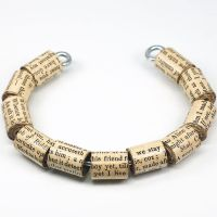 Shakespeare Jewelry- Paper Bead Bracelet by Tanith-Rohe