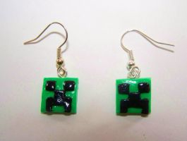 Creeper Earrings by ByToothAndClaw