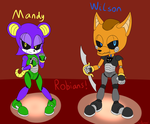 Art-Trade: Robot Mandy and Wilson! by SirBurnout