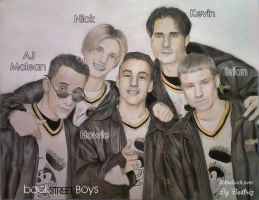 BackStreet Boys - Drawing by BeatrizLoveMyJesus