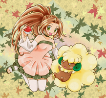 Tammy and Whimsicott - Commission by chikorita85