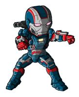 Chibi IM3 Iron Patriot by GuyverC