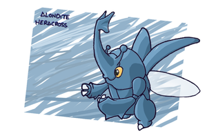 Number 214 - HERACROSS by Skyblufox