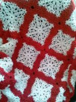 Red and White Snowflake Blanket by Akeelahh