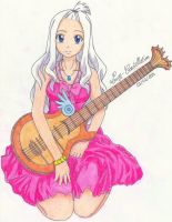 Mirajane with her guitar by Lucy-Constellation