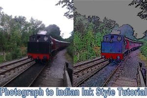 Photograph to Indian Ink Style by he4rty
