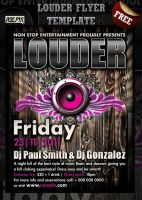 Louder Party Flyer by Hotpindesigns