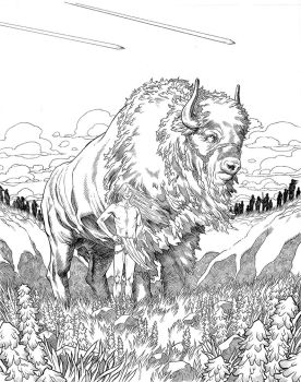 Great White Buffalo Inks by JerMohler