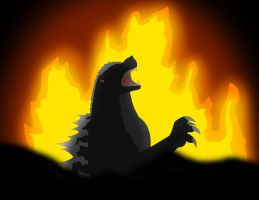 Godzilla sealed Away by Pyrus-Leonidas
