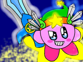 Ultra Sword Kirby by tails-is-epic13