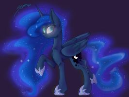 Princess Luna Drawing 2015 by Scr33chBa7