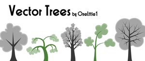 Vector Tree Pack by OneLttle1