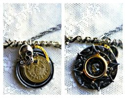 Captain Jack Sparrow Aztec Coin 2 Sided Necklace by elllenjean