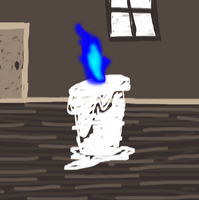 Simple Candle Scene Painting: 10 Minutes by Azailiathefox