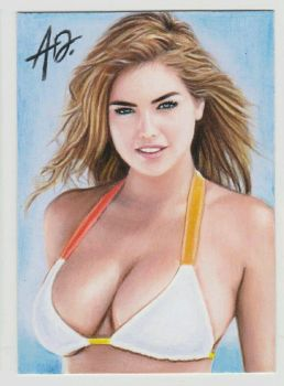 Kate Upton (Sketch Card) (#2) by A. Douglas by VMIFerrari