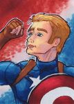 Captain America ACEO by Nortya