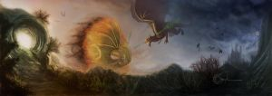 Dragonbattle by Smaragdia