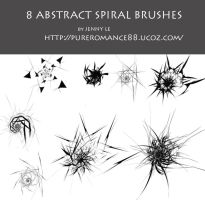 Abstract spiral brushes 1 by JennyLe88