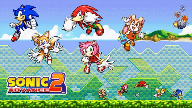 Sonic Advance 2 Wallpaper by AceDemonHunter