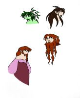 Two Dwarves, a Satyr, and a Dryad by Jakegothicsnake