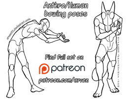 Pose Reference: Anthro/Human Bowing + DLC by ARVEN92