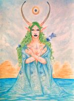 Water deity by Lmih