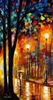 Misty glow Oil Painting On Canvas by L.Afremov by Leonidafremov
